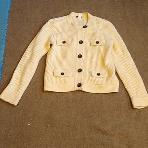 J. Crew Thermal Waffle Sweater Jacket
